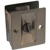 POCKET DOOR LATCH AGED BRONZE