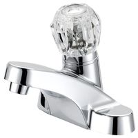 FAUCET LAV 4IN RD ACRYHNDL CHR
