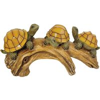 Moonrays 91515 Turtles On a Log Outdoor Solar Light