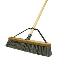 "18"" Stiff Poly Push Broom"