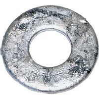 "Galvanized Flat Washer, 1/2"" 130 Pk"
