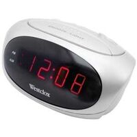 "Alarm Clock, 0.6"" White"
