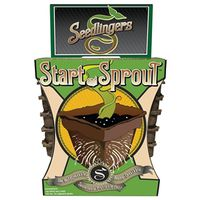 SEED START POT NO3 SQUARE 12PK