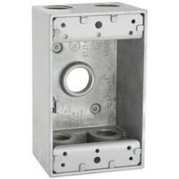 Aluminum 1 Gang 5 Threaded Outlet Box, Grey