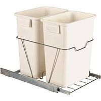 "Double Sliding Trash Can Cabinet Organizer, 15 1/2"" x 19 1/4"" x 21 3/4"""