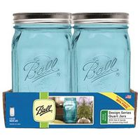 JAR WIDE MOUTH BLUE QT 4PK