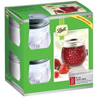 JAM JAR REG MOUTH 8OZ 4PK