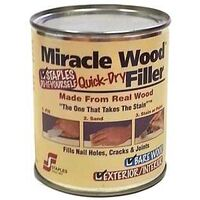 Miracle Wood Filler, 1/2 Lb Natural