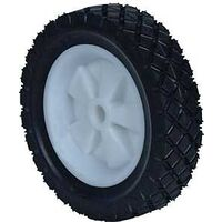 "Plastic Offset Diamond Tread Lawn Mower Wheel, 6"" x 150"