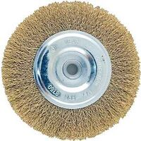 "Wire Wheel Brush with Hole Coarse, 4"" Brass"