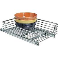 "Extra Deep Sliding Organizer, 14.5"" Chrome"
