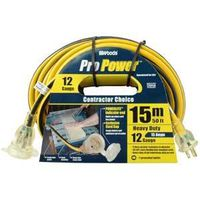 CCI Pro-Power Outdoor Extension Cord With Powerlite Lightened End