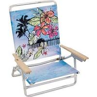 BEACH CHAIR LAY FLAT BLUE