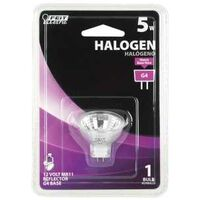 Bi Pin Halogen Flood Bulb, 5 Watt