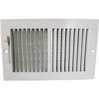"Two Way Side Wall Register, 10"" x 6"" White"