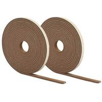 FOAM TAPE HIGH DENSITY, 1/4X1/2X34, BROWN