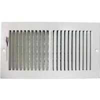 "Two Way Side Wall Register, 12"" x 6"" White"