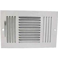 "Three Way Side Wall Register, 10"" x 6"" White"