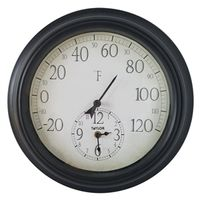 THERMOMETER W/CLOCK 14IN