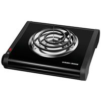 HOT PLATE SINGLE BURNER BLK