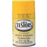 Testors Hobby Model Spray Paint, 3 oz Gloss Yellow