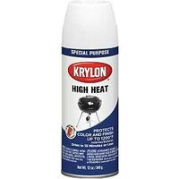 Krylon High Heat & Radiator Spray Paint, White 13 oz