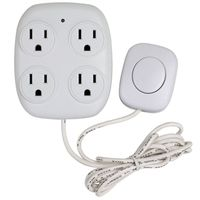 TAP INDOOR 4-OUTLET W/REMOTE