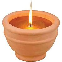 Citronella Candle with Bowl, Terra Cotta