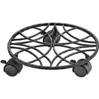 "Wrought Iron Plant Stand Dolly, 10.5"" Black"