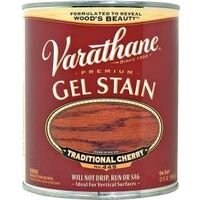 Varathane Interior & Exterior Oil Gel Stain, 1 Qt Traditional Cherry