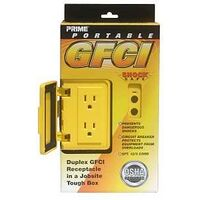 Portable GFCI Box, 12/3 Gauge x 6' Yellow