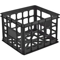 STORAGE CRATE 15X13X10 BLK
