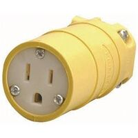 Ground Cord Plug Connector, 125V/15A Yellow