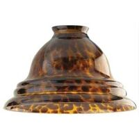 "Glass Pendant Light Shade, 2.25"" Tortoise Shell"