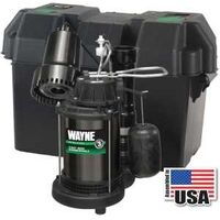 Sump Pump & Back Up System, 1/3 Hp