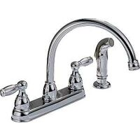 Two Handle Arc Lead Free Kitchen Faucet, Chrome