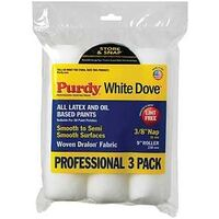 """Purdy White Dove Paint Roller Cover, 9"""" x 3/8""""  3pk"""