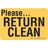 Return Clean Decal