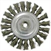 "Knotted Wire Wheel Brush, 4"" Coarse"
