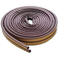 "D Strip Weatherstripping, 23/64"" x 17' Brown"