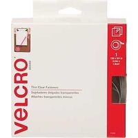 Velcro Tape, 3/4&quot; x 15&#39; Clear