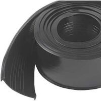 Garage Weatherstripping Vinyl Replacement, 9' Black