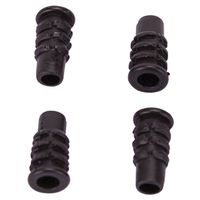 SOCKET PLASTIC 5/8IN BLK 4PC