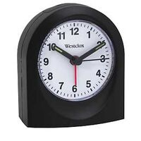 QUARTZ ALARM CLOCK, Black