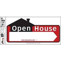 "Open House Directional Sign, 10"" x 22"""