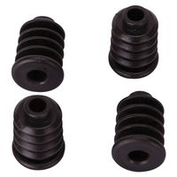 SOCKET PLASTIC 7/8IN BLK 4PC