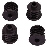SOCKET PLASTIC 1IN BLACK 4PC