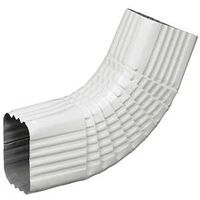 "Aluminum Side B Style Gutter Elbow, 3"" x 4"" White"