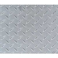 Diamond Tread Aluminum Sheet, 1' x 2'