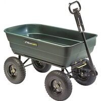 Poly Dump Yard Cart with Convertible Handle, 1,000 Lbs